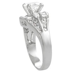 Journee Collection Silvertone Round-, Marquise- and Emerald-cut CZ Ring