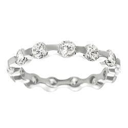 Tressa Collection Silvertone Round CZ Bridal & Engagement Ring