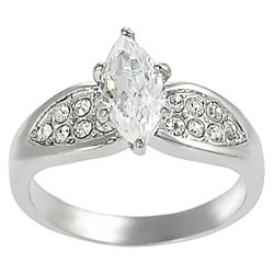Tressa Collection Silvertone Marquise CZ Bridal & Engagement Ring