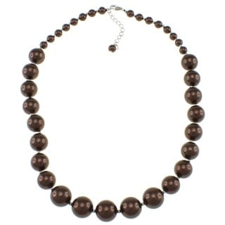 Pearlz Ocean Chocolate Shell Pearl Necklace
