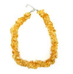 Pearlz Ocean Sterling Silver Citrine Chips Necklace