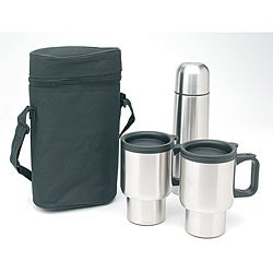 Worthy 4-piece Stainless Steel Coffee Mug and Thermos Set