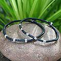 Set of 2 Silver 'Hill Tribe Intrigue' Polyester Bracelets (Thailand)