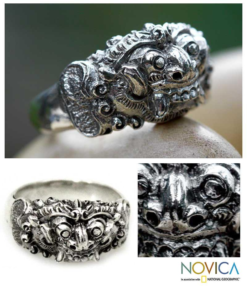 Sterling Silver Men's 'Goodness' Ring (Indonesia)