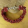Sterling Silver 'Song of Passion' Jasper Beaded Bracelet (India)