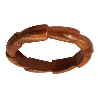 Set of 2 Seesham Wood 'Forest Suns' Bangle Bracelet (India)