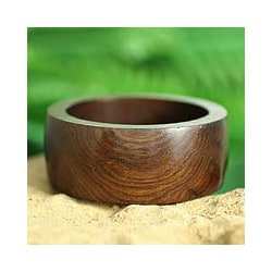 Seesham Wood 'Forest Empress' Bangle Bracelet (India)
