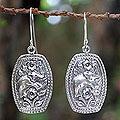 Sterling Silver 'Elephant Roses' Flower Earrings (Thailand)