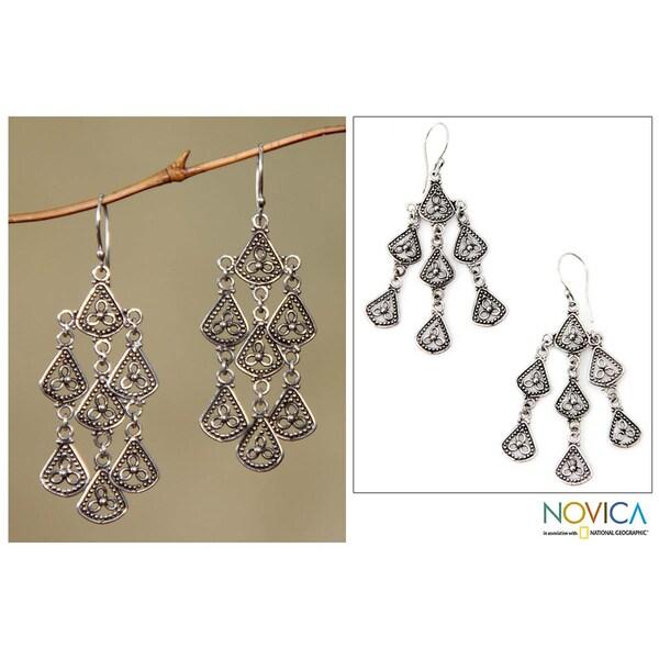 Sterling Silver 'Bali Belle' Chandelier Earrings (Indonesia)