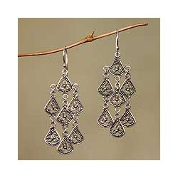 Sterling Silver 'Bali Belle' Chandelier Earrings (Indonesia)