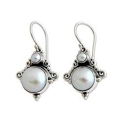 Sterling Silver 'Exotic Grey' Pearl Earrings (3.5-9.5 mm) (Indonesia)