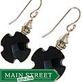 Misha Curtis Onyx Cross and Crystal Earrings