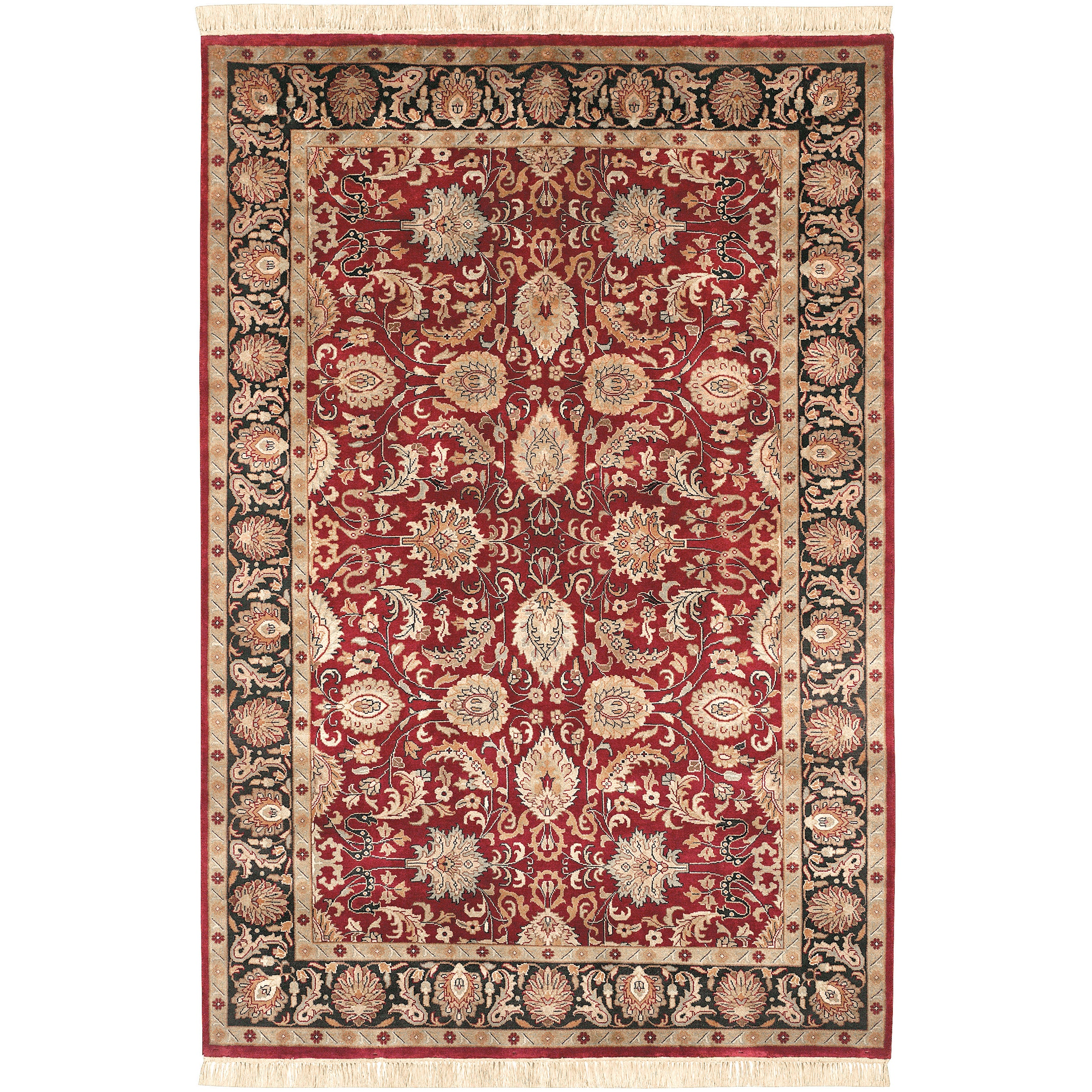 "Hand Knotted Taj Mahal Semi-Worsted New Zealand Wool Rug (3'6"" x 5'6"")"