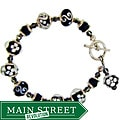 Misha Curtis Black and White Glass Bead Bracelet