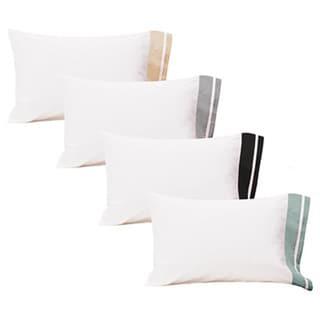 Roxbury Park Inlay Bleach White King-size Pillowcases (Set of 2)