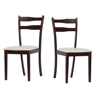 Warehouse of Tiffany Callan Light Cappucino Dining Chairs (Set of Eight)