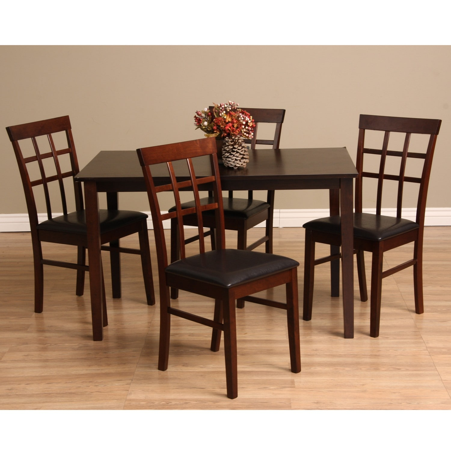 piece dining furniture set overstock shopping big discounts