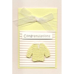 Set of 4 Baby Yellow Sweater Cards (Turkey)