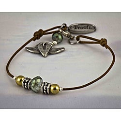 Natural Leather 'Attitude' Bracelet