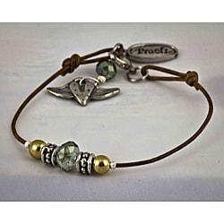 Natural Leather 'Attitude' Bracelet