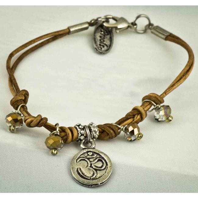 'Om' Leather Bracelet