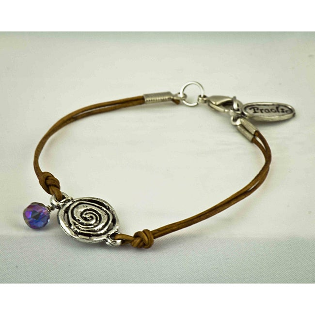 Natural Leather 'Karma' Bracelet
