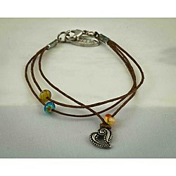 Praols Story Bracelets Antiqued 'Inspiration' Glass Bead Cotton Cord Bracelet
