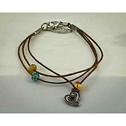 Praols Story Bracelets Antiqued 'Inspiration' Glass Bead Cotton Cord Bracelet