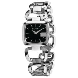 Gucci Women's 'G-Gucci' Stainless Steel Black Face Watch