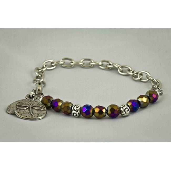 Steel Chain 'Dragonfly' Bracelet