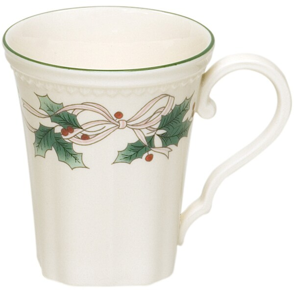 Red Vanilla Classic White Holly Mugs (Set of 4)