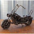 Handcrafted Auto Parts 'Rustic Motorbike Classic' Sculpture (Mexico)