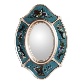 Glass 'Royal Butterfly' Mirror (Peru)