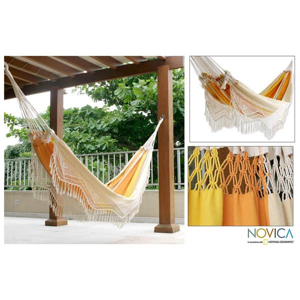 Cotton ', Handmade in Brazilian Beach' Hammock , Handmade in Brazil