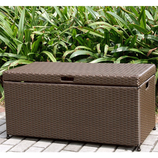 Wicker Patio Storage Deck Box