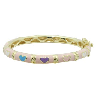 Goldtone Multi-colored Enamel Baby Bracelet