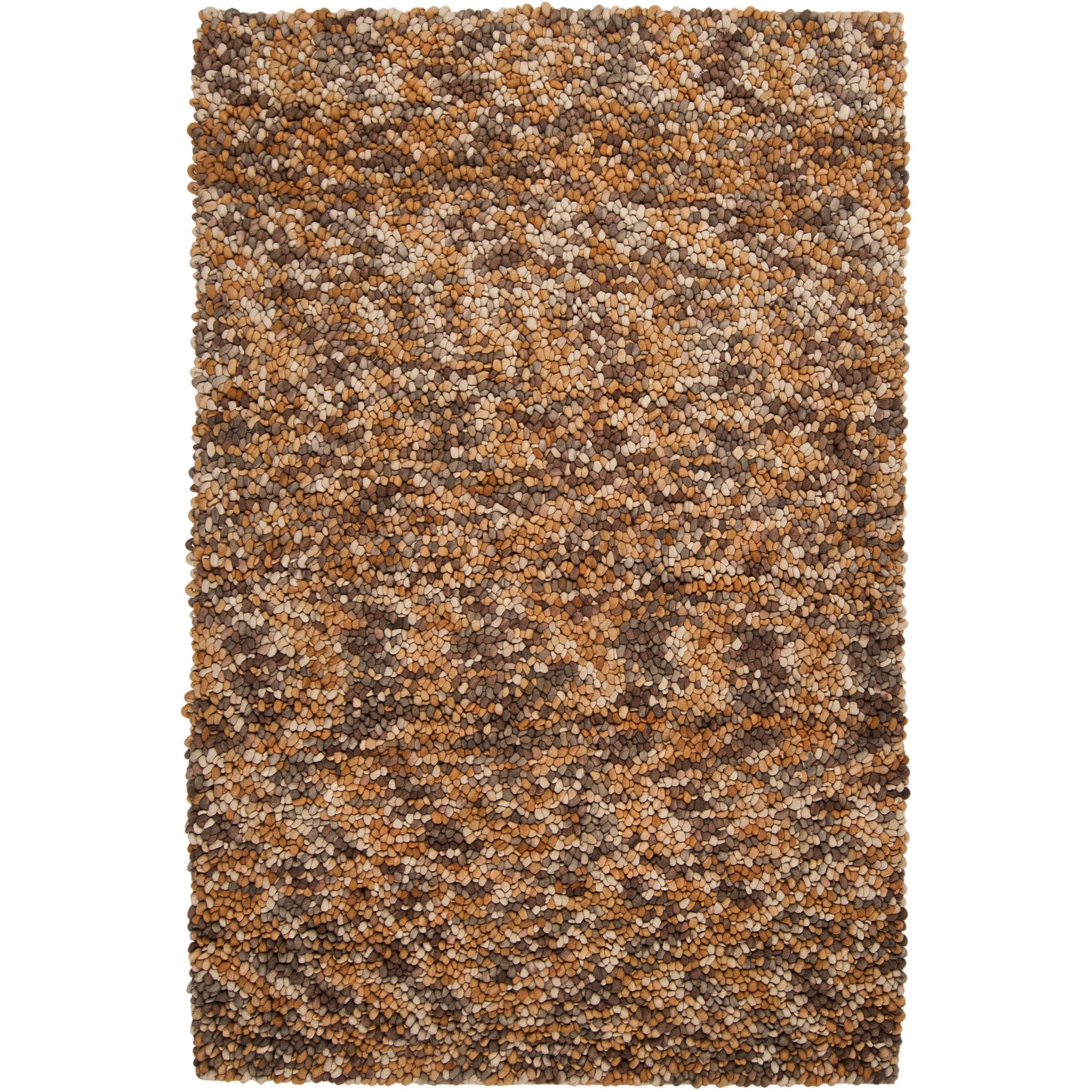 Hand-woven Franklin Wool Plush Shag Rug (8' x 10')