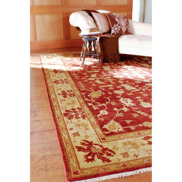 Hand Knotted Antolya Semi-Worsted New Zealand Wool Rug ( 9' x 13' )