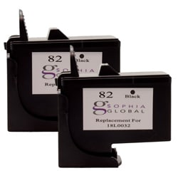 Lexmark 82 Black Ink Cartridge (Pack of 2) (Remanufactured)