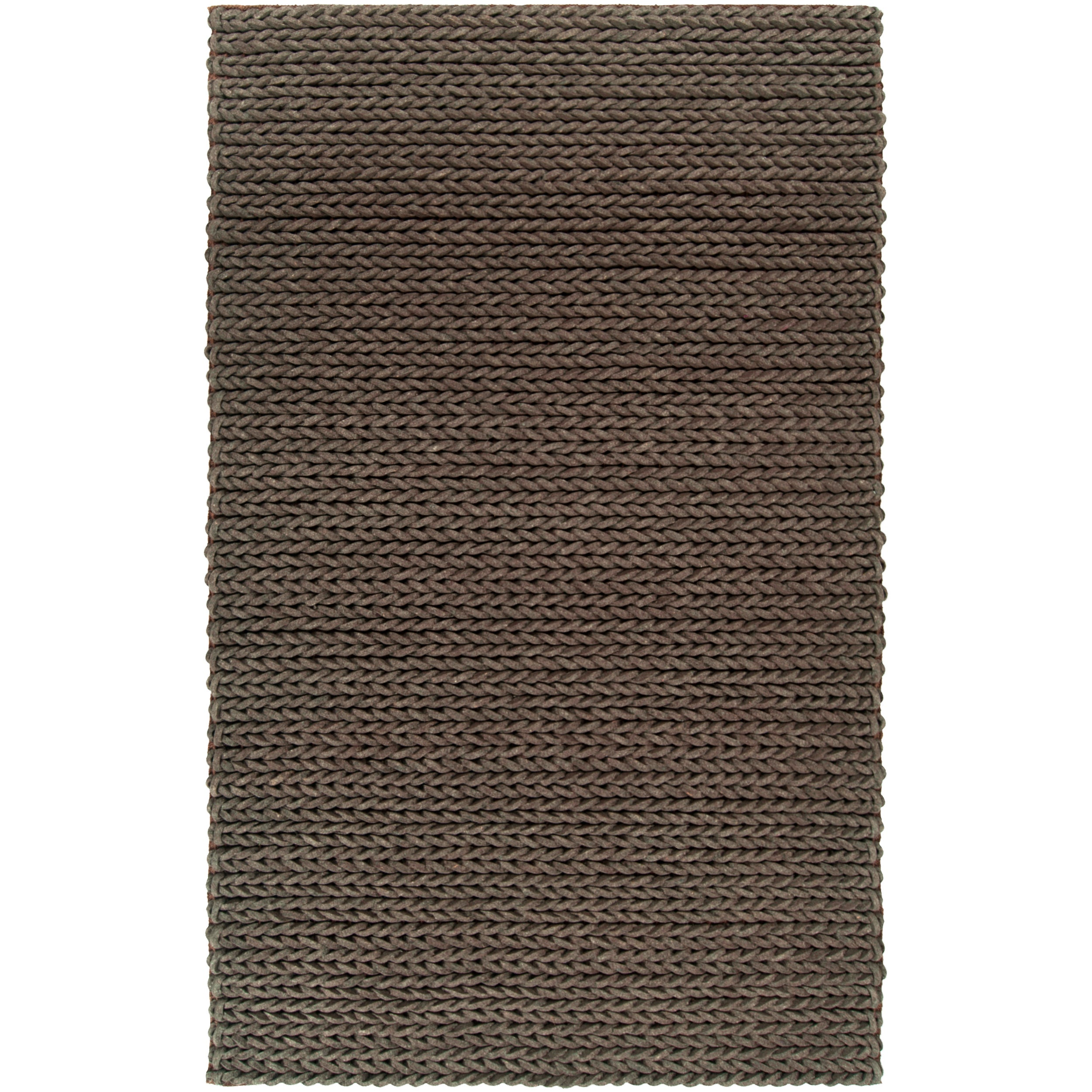 Hand-woven Arezzo Braided Texture New Zealand Wool Rug ( 8' x 11' )