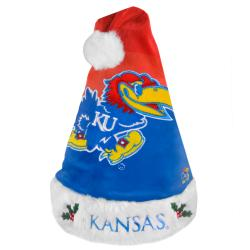 Kansas Jayhawks 2011 Colorblock Runoff Logo Santa Hat