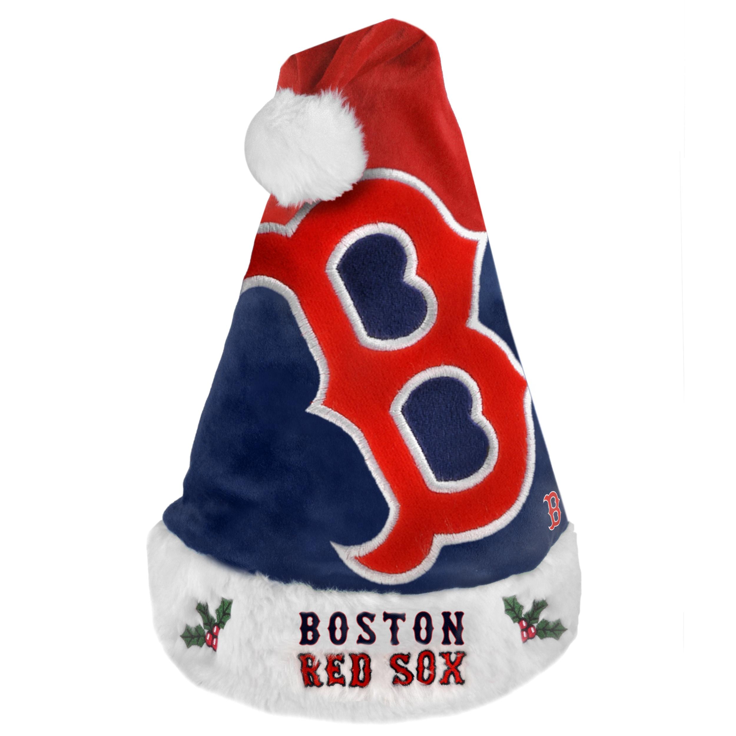 Boston Red Sox 2011 Colorblock Runoff Logo Santa Hat