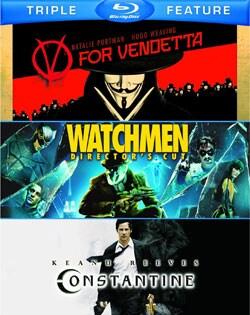 V For Vendetta/Watchmen/Constantine (Blu-ray Disc)
