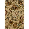 Berkley Beige/ Gold Floral Area Rug (9'10 x 12'9)