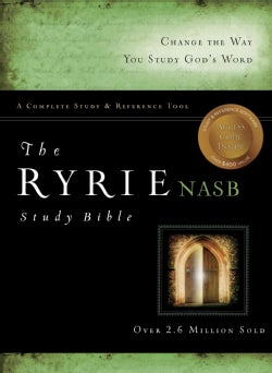Ryrie Study Bible: New American Standard Bible, Study, Black, Bonded Leather, Red Letter (Paperback)
