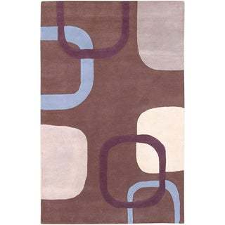 Hand-tufted Contemporary Premier Geometric Shapes Wool Rug (8' x 11')