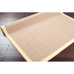 Hand-woven Ortiz Natural Fiber Jute Rug (8' x 10')