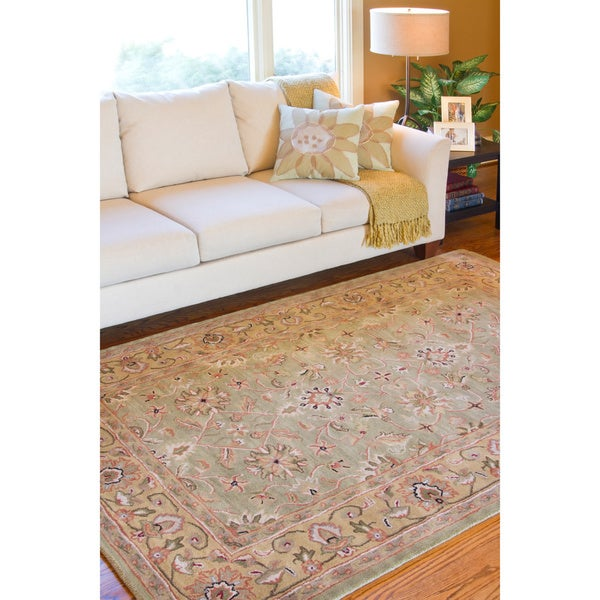 Hand-tufted Ortler Wool Rug (5' x 8')