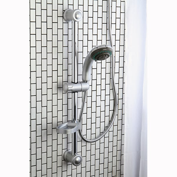 Satin Nickel Sliding Bar with Handheld Shower