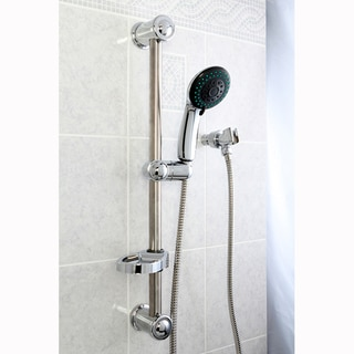 Chrome Sliding Bar with Handheld Shower